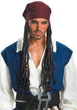 Jack Sparrow Headband with Hair, Pirates of the Caribbean™, Fancy Dress Accessories