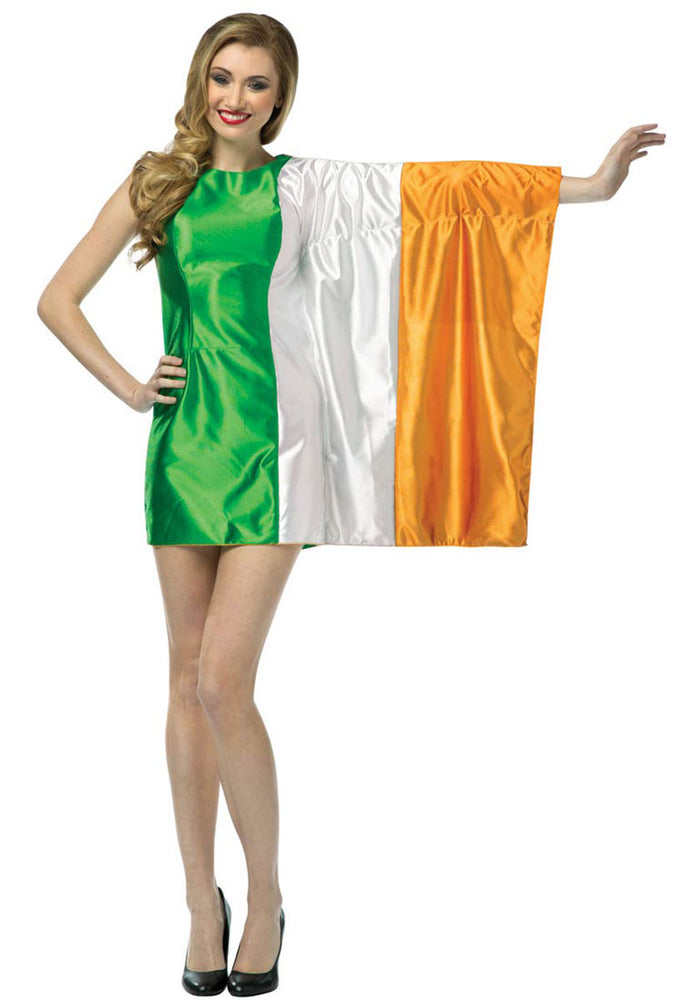 Adult Ireland Flag Dress, Irish Fancy Dress Costume