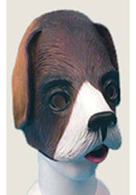Dog Half Face Rubber Animal Mask