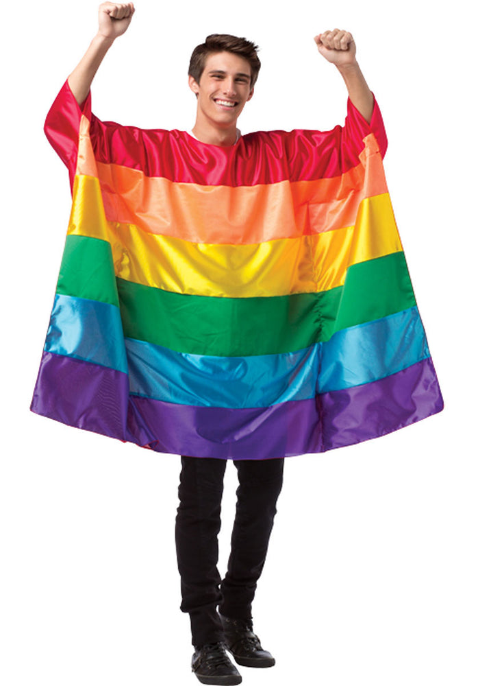 Adult Rainbow Flag Tunic Costume