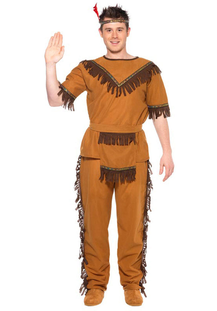 Indian Man Costume, Cowboys and Indians Fancy Dress