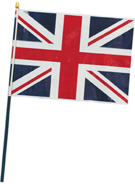 Flag Union Jack, Waving, 30x20cm Plastic Smiffys fancy dress