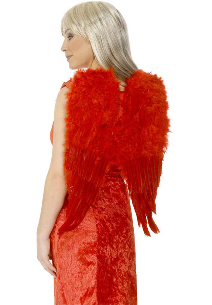 Wings Feather, Red, Angel, 50cm x 60cm Smiffys fancy dress