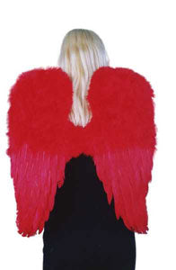 Fairy Angel Large Red Feather Wings