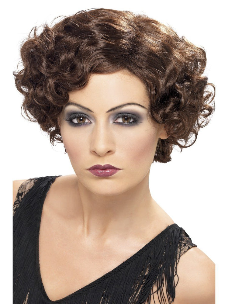 1920s Flirty Flapper Wig, Brown