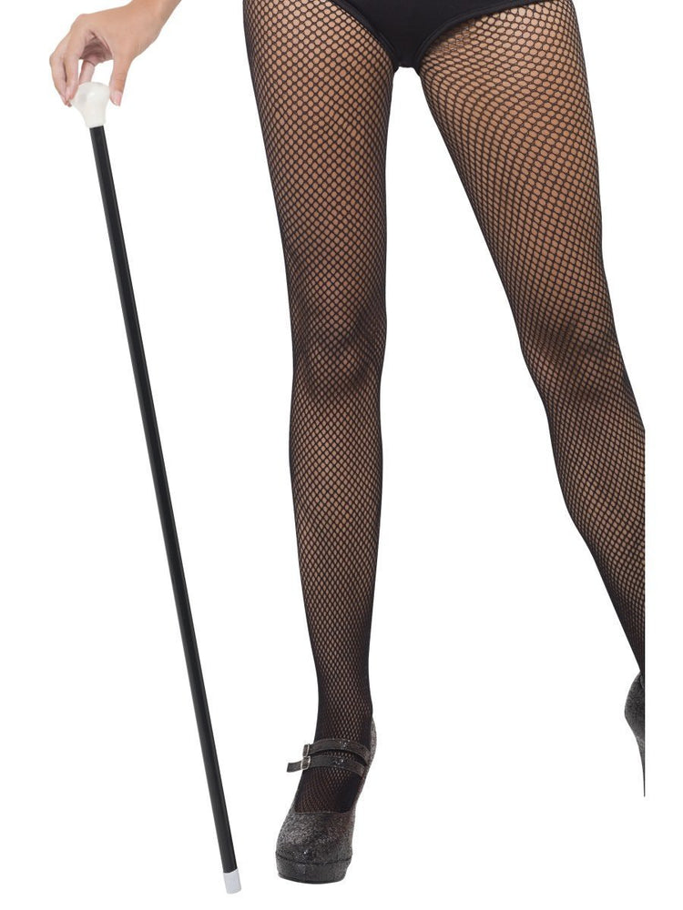Black Dance Cane with White Top