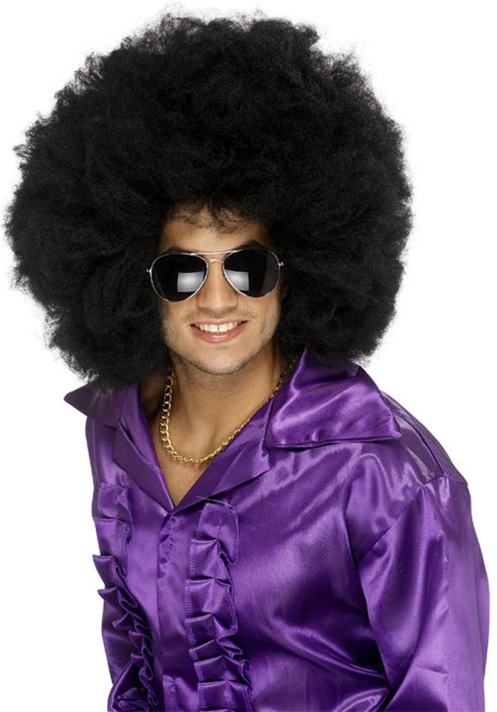Afro Big Hair Black Wig, Fancy Dress Accessory