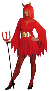 Devil Lady Costume, Halloween Fancy Dress
