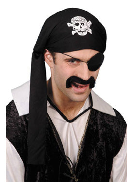 Pirate Scarf Hat, Black Smiffys fancy dress