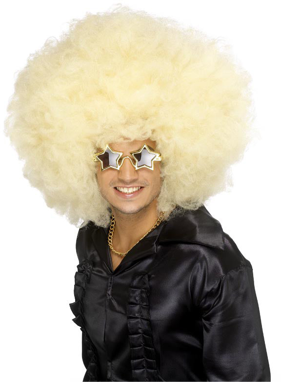 Afro, Mother of All Wigs, Blonde ,Smiffys fancy dress