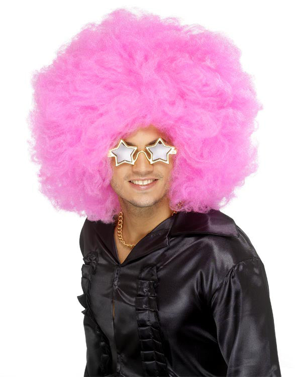 Afro, Mother of All Wigs, Pink ,Smiffys fancy dress