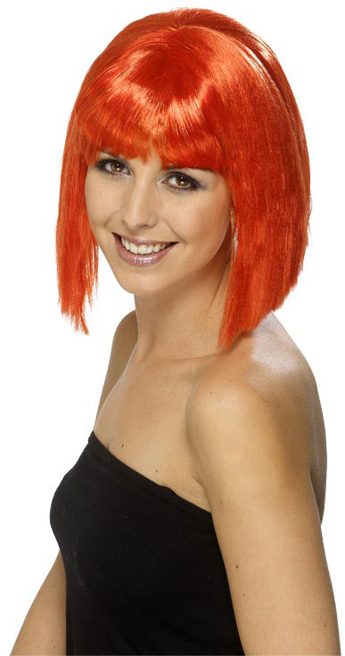 Lola Wig, Red, Short Fringed Smiffys fancy dress