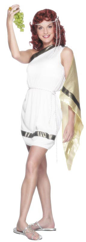Roman Lady Costume, Dress, Belt, Headpiece Smiffys fancy dress