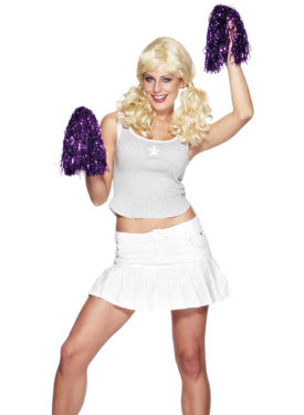 Pom Pom, Metallic Purple, Per Pair Smiffys fancy dress