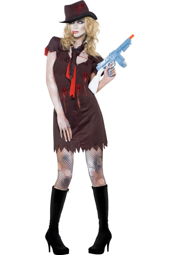 Zombie Gangster Costume, Fever Sexy Fancy Dress Collection