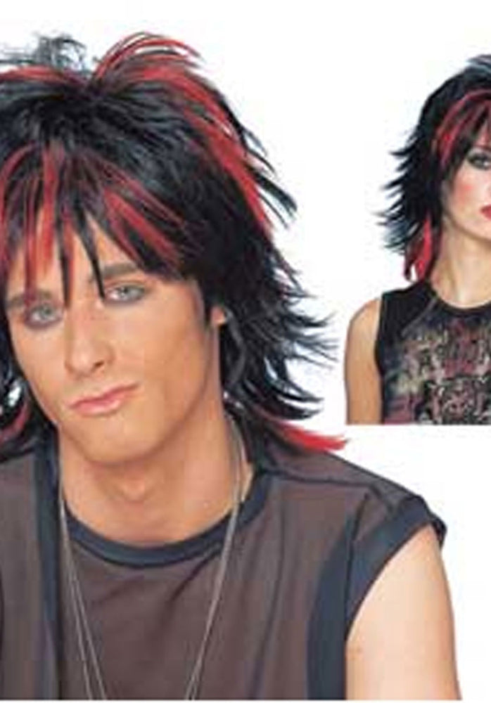 Rebel Unisex Wig Black & Red