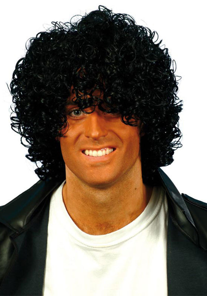 Afro Wacko Wig, Black Curly Wet Look ,Smiffys fancy dress