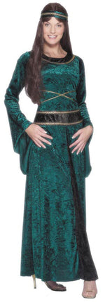Renaissance Lady Costume, Dress, Belt Smiffys fancy dress