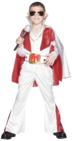 Rock Star Costume, Jumpsuit, Cape, Belt Smiffys fancy dress