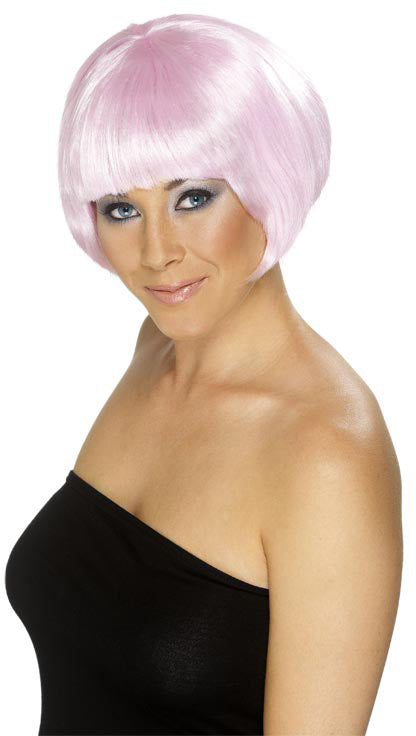 Babe Wig, Pink, Short Bob ,Smiffys fancy dress