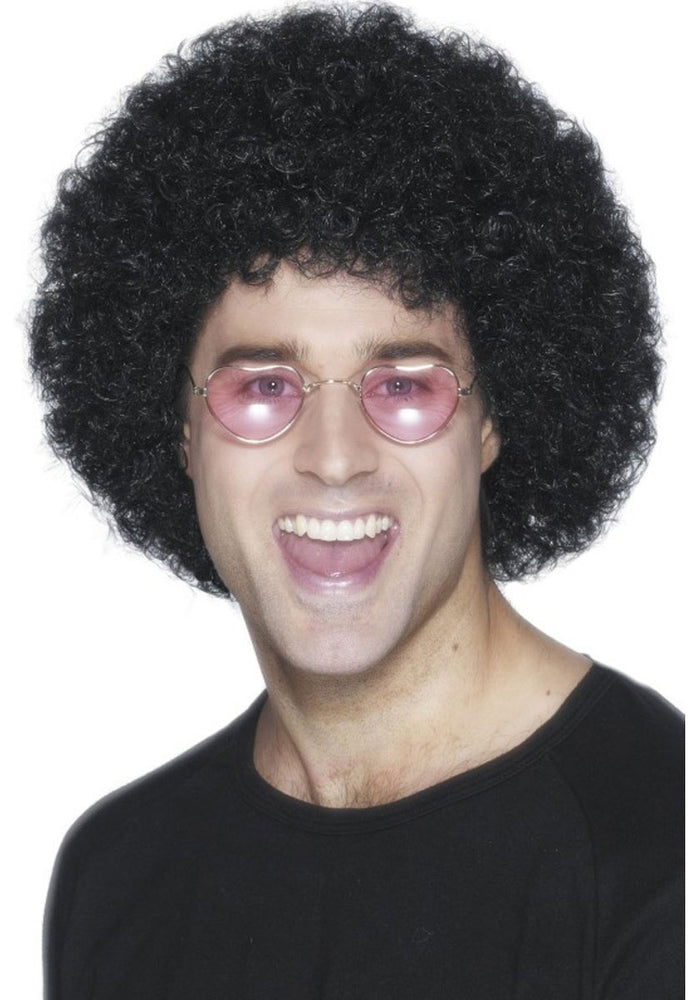 Afro Wig Economy, Black ,Smiffys fancy dress