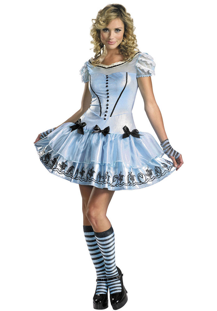 Alice Blue Sassy Fancy Dress Costume
