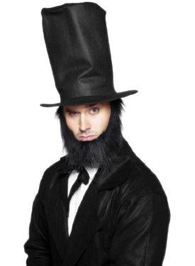 Abraham Lincoln Hat And Beard Set Smiffys fancy dress