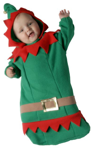 Elf Bunting Costume, With Hood,0-6 Months Smiffys fancy dress