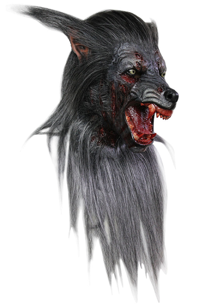 Black Wolf Mask, Halloween Werewolf Mask - Deluxe Quality