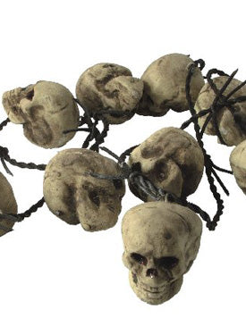 Barb Wire Rusty, With 10 Skulls, 180cm Smiffys fancy dress