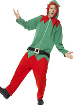 Adult Elf Costume, Unisex Elf All in One Fancy Dress