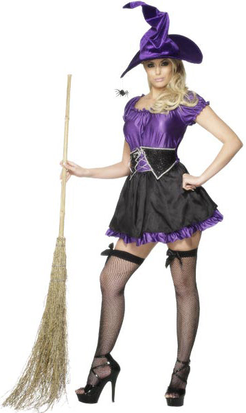 Fever Witch Dress Costume, Halloween Fancy Dress