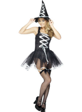 Fever Ballet Witch Costume, Halloween Fancy Dress