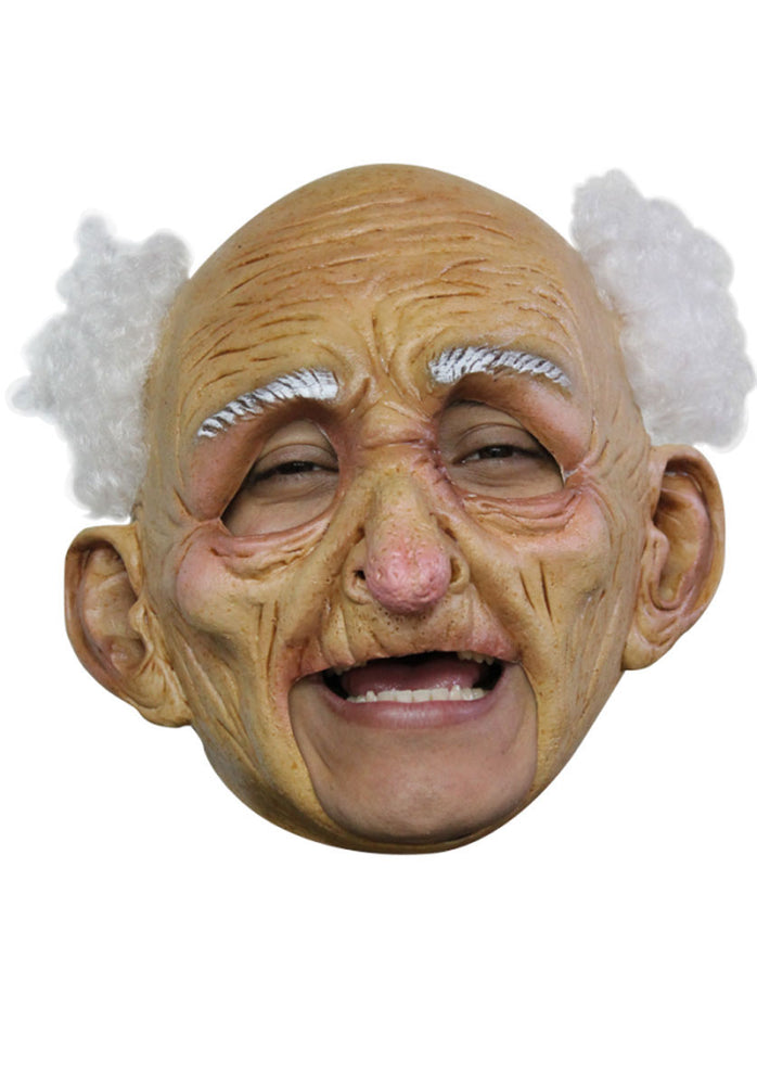 Old Man Mask for Halloween, Full Head Mask