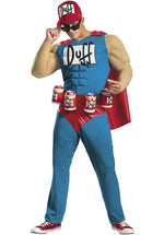 Duffman Muscle Costume - The Simpsons Superhero