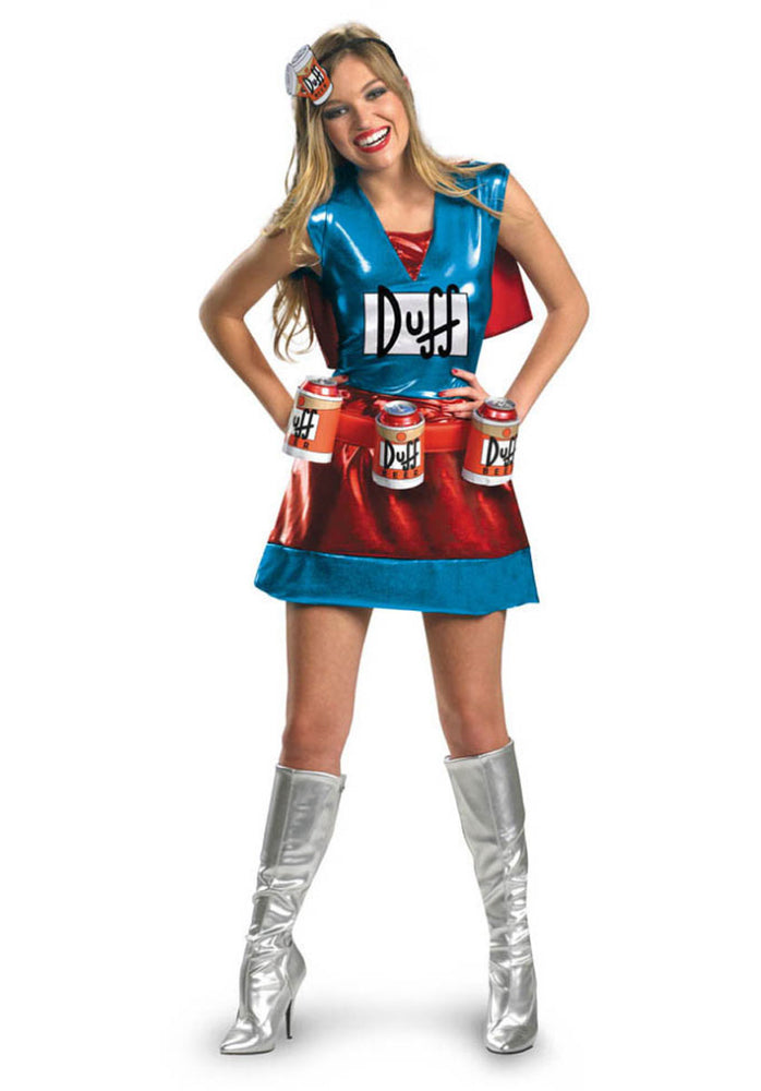 Fun Duffwoman Costume Deluxe, Ladies Duffman Costume
