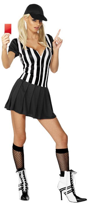 Referee Girls Costume, Fever Sexy Sports Fancy Dress