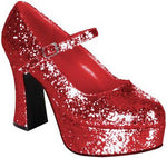 Dolly Shoes, Red Glitter S/M