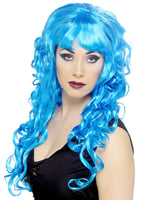 Blue Curly Siren Wig