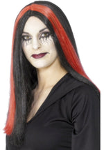 Red Streak Bewitched Wig