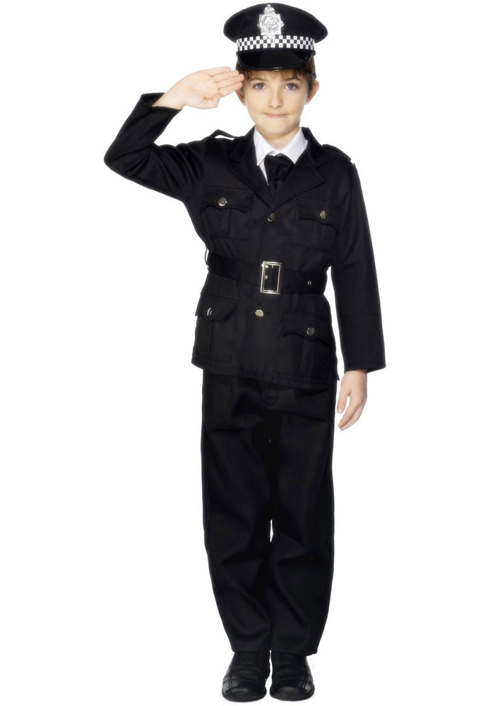 Kids Policeman Costume, Occupations Fancy Dress for Children