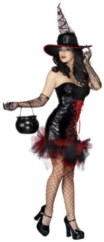 Fever Naughty Witch Costume, Halloween Fancy Dress