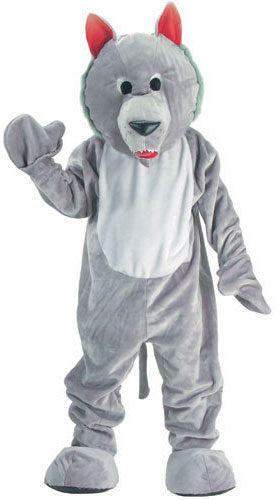 Mascot Hungry Wolf Costume, Animal Fancy Dress