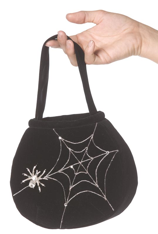 Spiderweb Handbag, Bijou Boutique, Halloween Fancy Dress Accessories