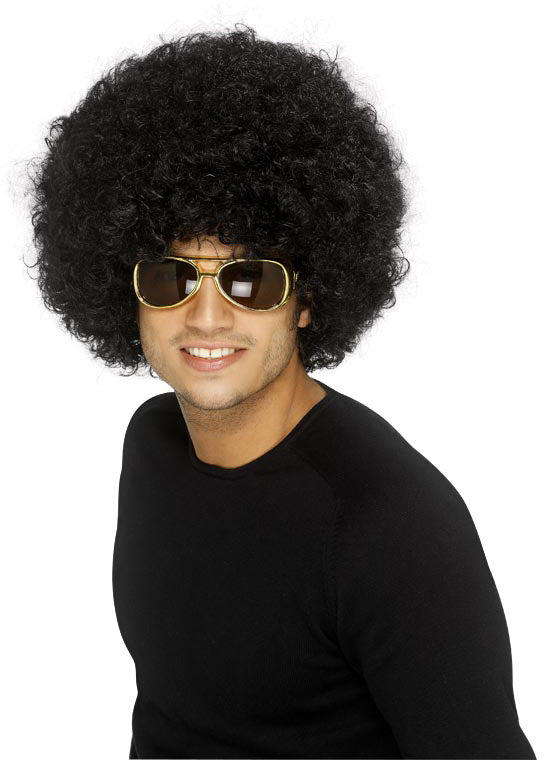 Pop Wig Black Best Quality Smiffys fancy dress