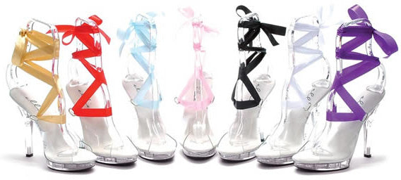 Fever Dancing Girl Shoe with Coloured Ribbons