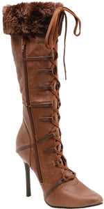 Fever Wild West Boot, Brown Suede