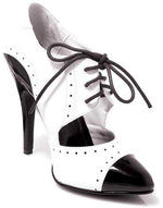 Lady Gangster Shoes, Black & White - 1920's Fancy Dress Shoes