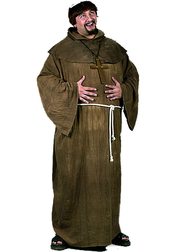 Monk Costume w/ Wig, Plus Size Costumes