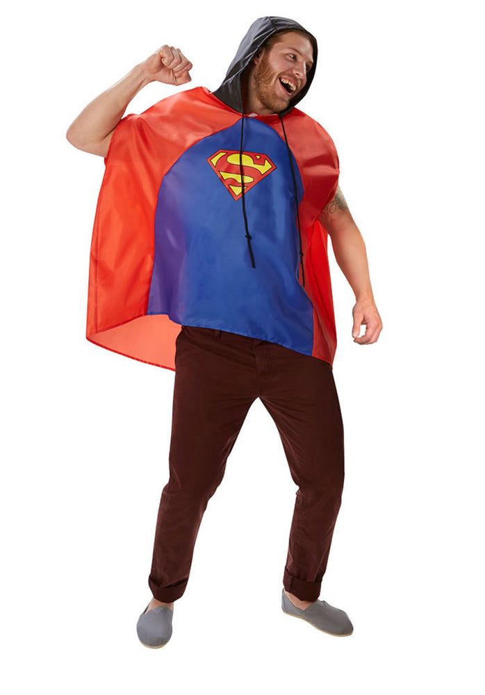 Superman Festival Poncho Adult Unisex